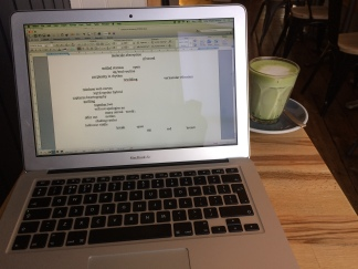 Editing with matcha latte at #NelsonCoffee Eastbourne